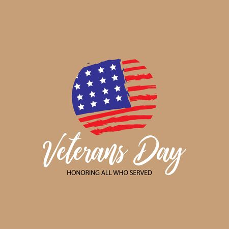 Veterans day honoring all who served poster celebration 일러스트