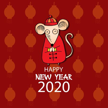 Year of Rat 2020, Symbol of the New Year 2020.