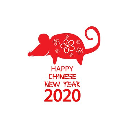 Rat is a symbol of the 2020 Chinese New Year. 일러스트
