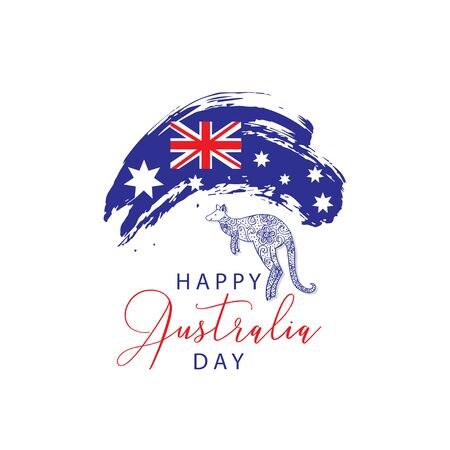 Australia Day. 26 January Happy Australia Day. Greeting card.26, australia, australian, background, banner, blue, card, celebration, color, constitution, continent, country, date, day, democratic, design, explosion, festival, freedom, glowing, greeting, happy, holiday, illustration, independence, isolated, january, kangaroo, labor, map, memorial, memory, nation, national, night, patriotic, patriotism, poster, red, star, symbol, vector, wallpaper, white, words, workforce 向量圖像