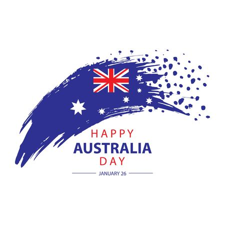Happy Australia Day concept. Suitable for Greeting card, poster and banner. 向量圖像