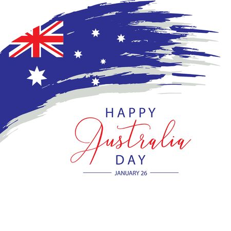 Happy Australia Day concept. Suitable for Greeting card, poster and banner. Ilustrace