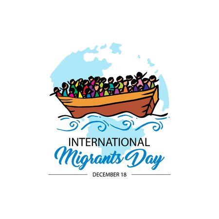 International immigration concept background. December 18 版權商用圖片 - 135508537