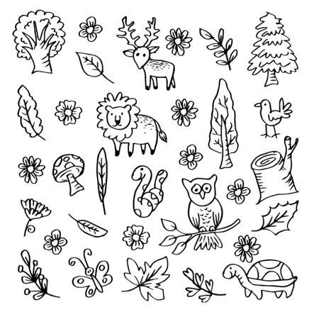 Cartoon forest animals Illustration