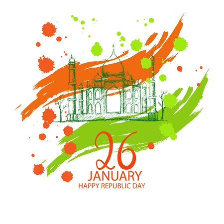 Republic Day of India banner. 26th of January