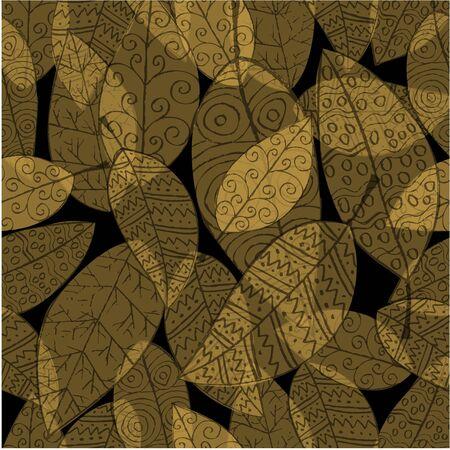 Autumn leaves seamless pattern background. 向量圖像