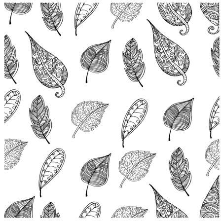 Seamless Background. Autumn Leaves Pattern texture 向量圖像
