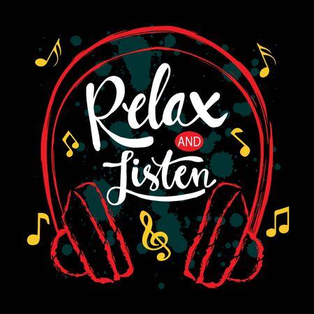Cita de motivación musical. Relájate y escucha.