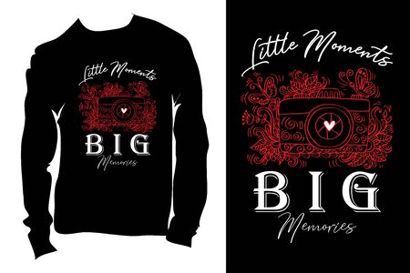 Little moments Big memories. Inspirational and motivational handwritten lettering quote 向量圖像