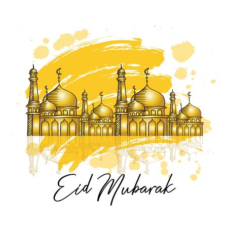 Ramadan Kareem or Eid Mubarak. Greeting Card