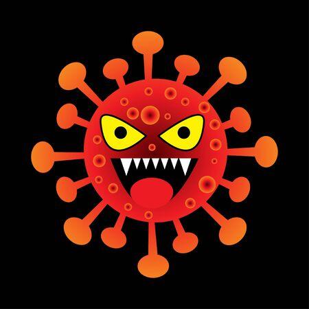 Corona Virus Bacteria cartoon character