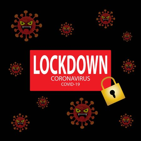 Coronavirus lockdown symbol. Global pandemic health warning concept.