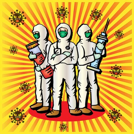 The medical team is ready to fight coronavirus.