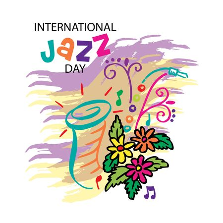 International jazz day poster concept Illustration