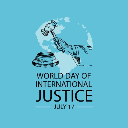 World day for international justice poster concept.