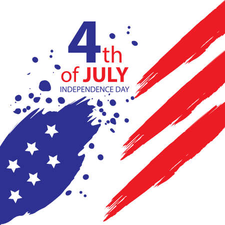 Illustration 4 July independence day USA