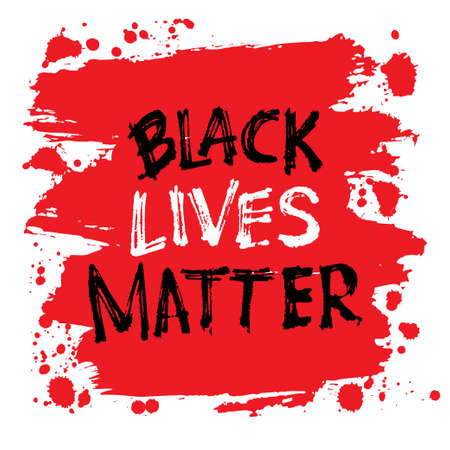 Black lives matter. Lettering. Can be used for prints bags, t-shirts, posters, cards. Support for equal rights of black people. Illustration
