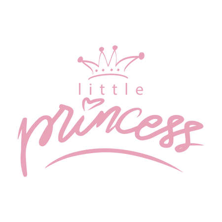 Little Princess hand lettering calligraphy.