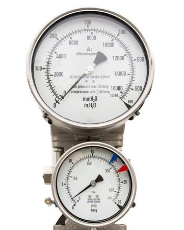 gas supply: Isolated pressure gauge and level gauge in cryogenic liquid gas supply
