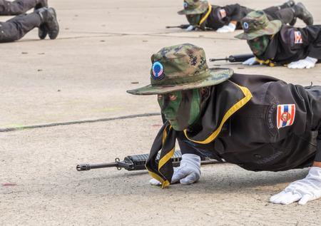 Seal team in Military Parade of Royal Thai Navy