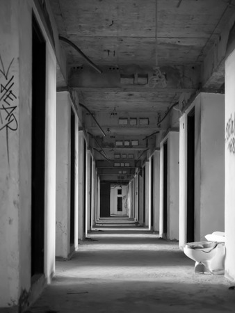 buliding: Old passage in abandoned buliding, Bangkok Ghost Tower