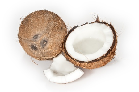 Open and closed coconut Stock Photo - 9866678