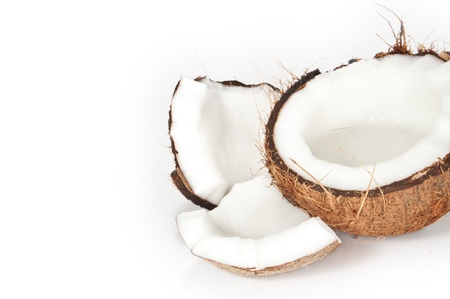 Coconuts on a white background  photo