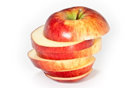 Sliced apple photo