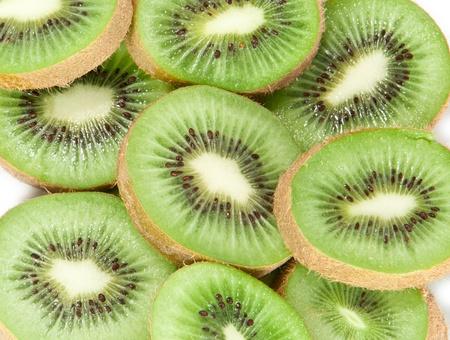 Kiwi slices macro picture photo