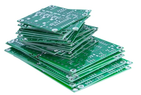 Stacked circuit boards photo