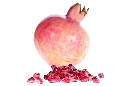 punica granatum: Pomegranate with seeds