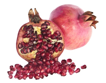 punica granatum: Two pomegranates Stock Photo