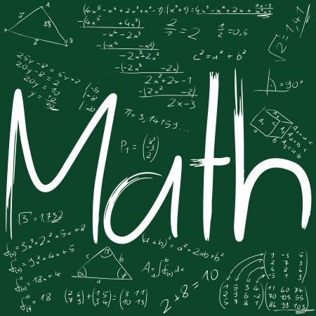 multiplicaci�n: Junta con f�rmulas matem�ticas Foto de archivo