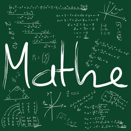 Board with mathematical formulas photo