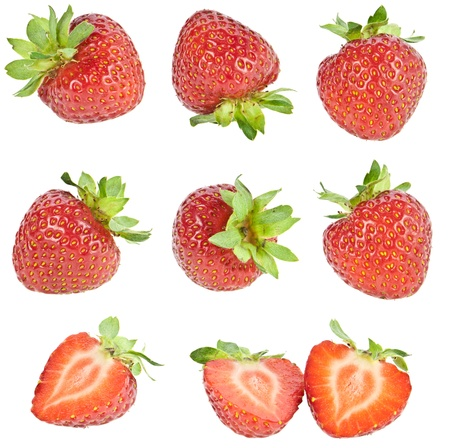 Strawberry collage photo