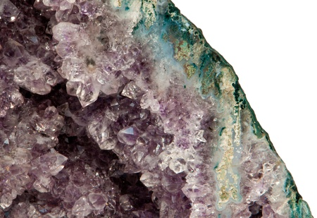 Isolated amethyst geode photo