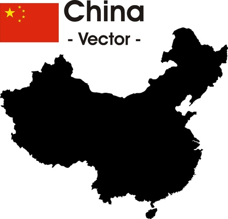 China map as vector image