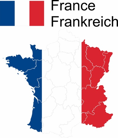 nice france: The French republic als vector map with administrative divisions