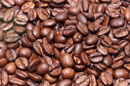 Coffee-Beans (macro view) for use as background picture photo
