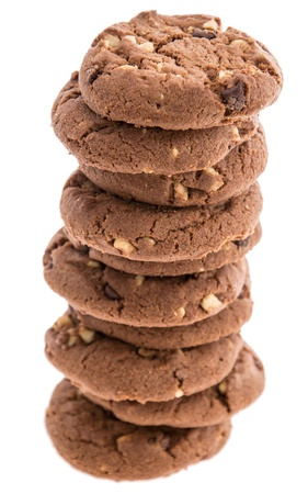 Brown Cookies isolated on white background Stock Photo - 14614875