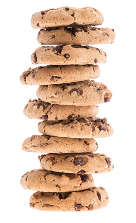 Stacked Cookies isolated on white background photo