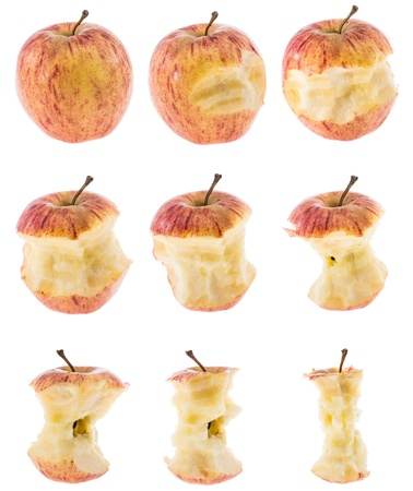 Group of Apples isolated on white background