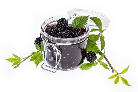 wildberry: Blackberry Jam isolated on white background