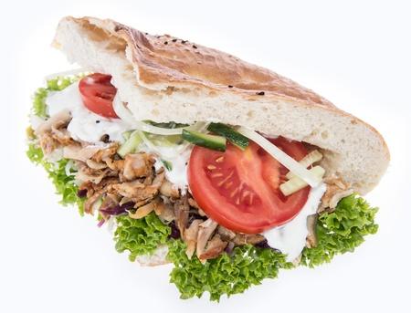 Kebab isolated on white background Imagens