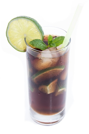 longdrink: Cuba Libre isolated on white background