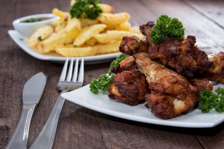 fingerfood: Mixed Fingerfood on wooden background