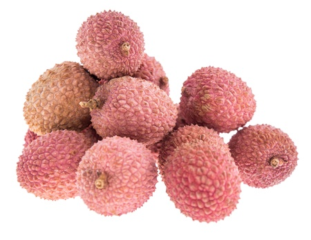 Lychees isolated on white background Stock Photo - 17071851