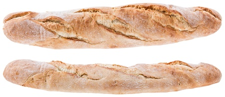 Baguettes isolated on white background photo