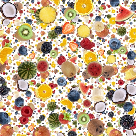 Fruity background isolated on white photo