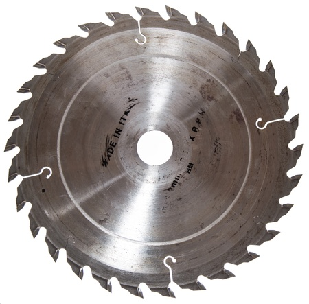 Circular Saw Blade isolated on white background Stock Photo - 17717498